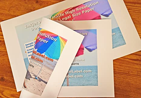 amazon com photo quality matte inkjet paper 8 5 x 14 legal size 2
