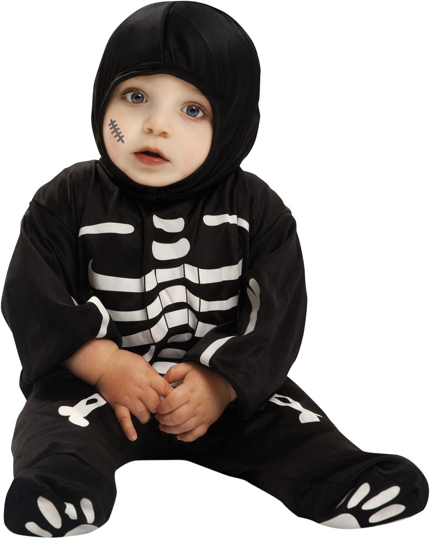 funstuff Baby Boys Fleece Skeleton Fancy Dress Costume Coveralls with Footies 0-3 Months