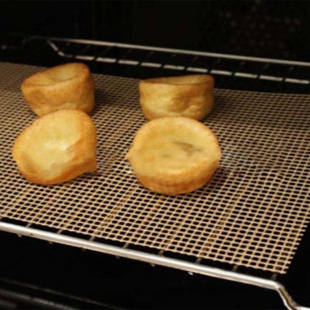 Matefield r/ésistant /à la Chaleur en Maille Filet pour Barbecue Grill Tapis de Cuisson /à r/ôtir Anti-adh/ésif Feuilles Pad 1