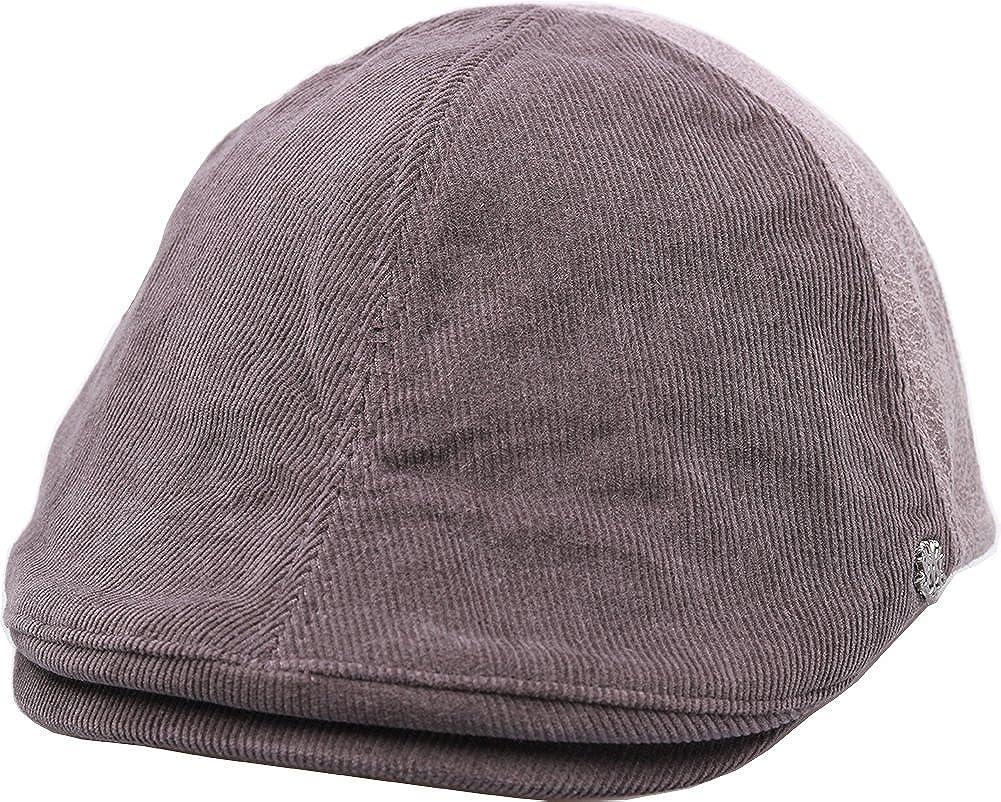 sujii Corduroy Newsboy Beret Flat Cap Cabbie Driver Hat Ivy Cap