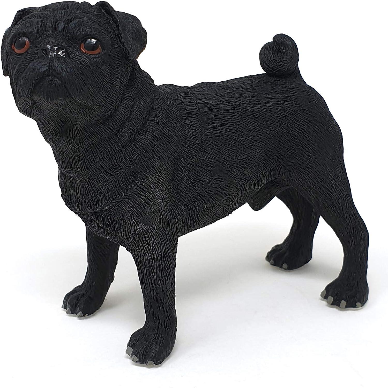 PUG FIGURE ORNAMENT FIGURINE  MODEL GIFT PUG DOG STATUE FIGURE  PUG gift present