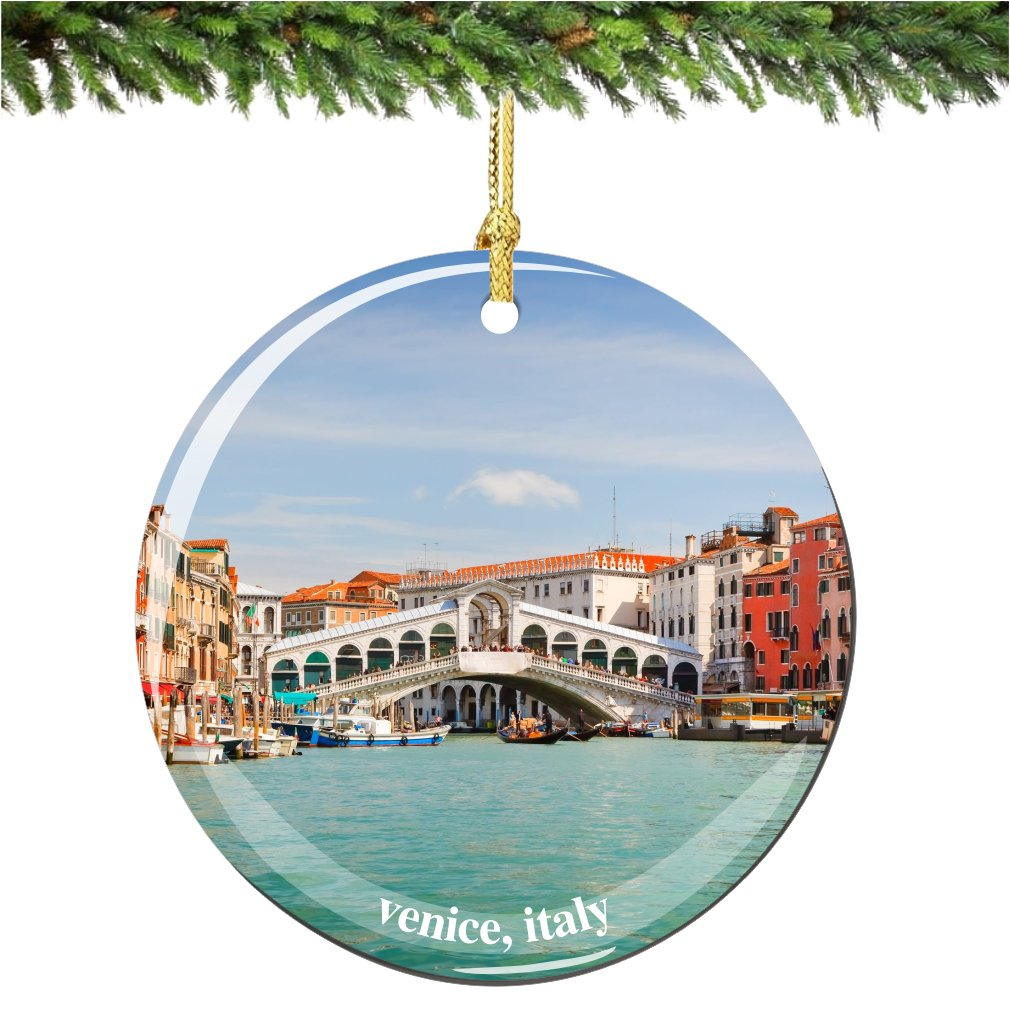 Amazon.com: Venice Christmas Ornament, Italy Porcelain 2.75 ...