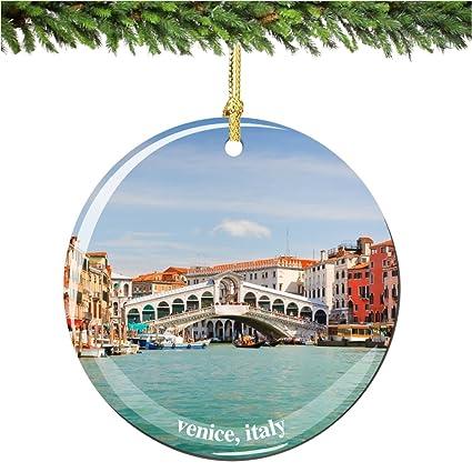 venice christmas ornament italy porcelain 275 double sided italain christmas ornaments - Amazon Christmas Ornaments