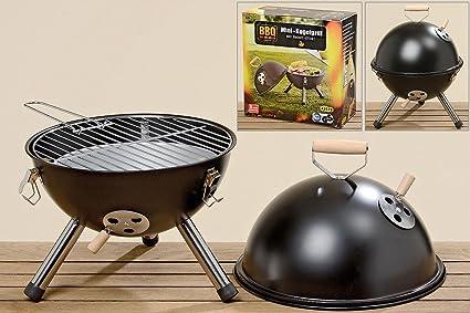 Parrilla Barbacoa Grill en hierro negro lacado. Altura:43 cm Diametro: 33cm Modelo