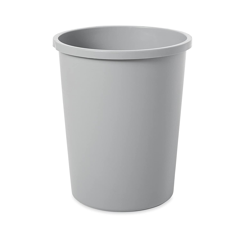 Rubbermaid Commercial Untouchable Trash Can, 11 Gallon, Gray, FG294700GRAY