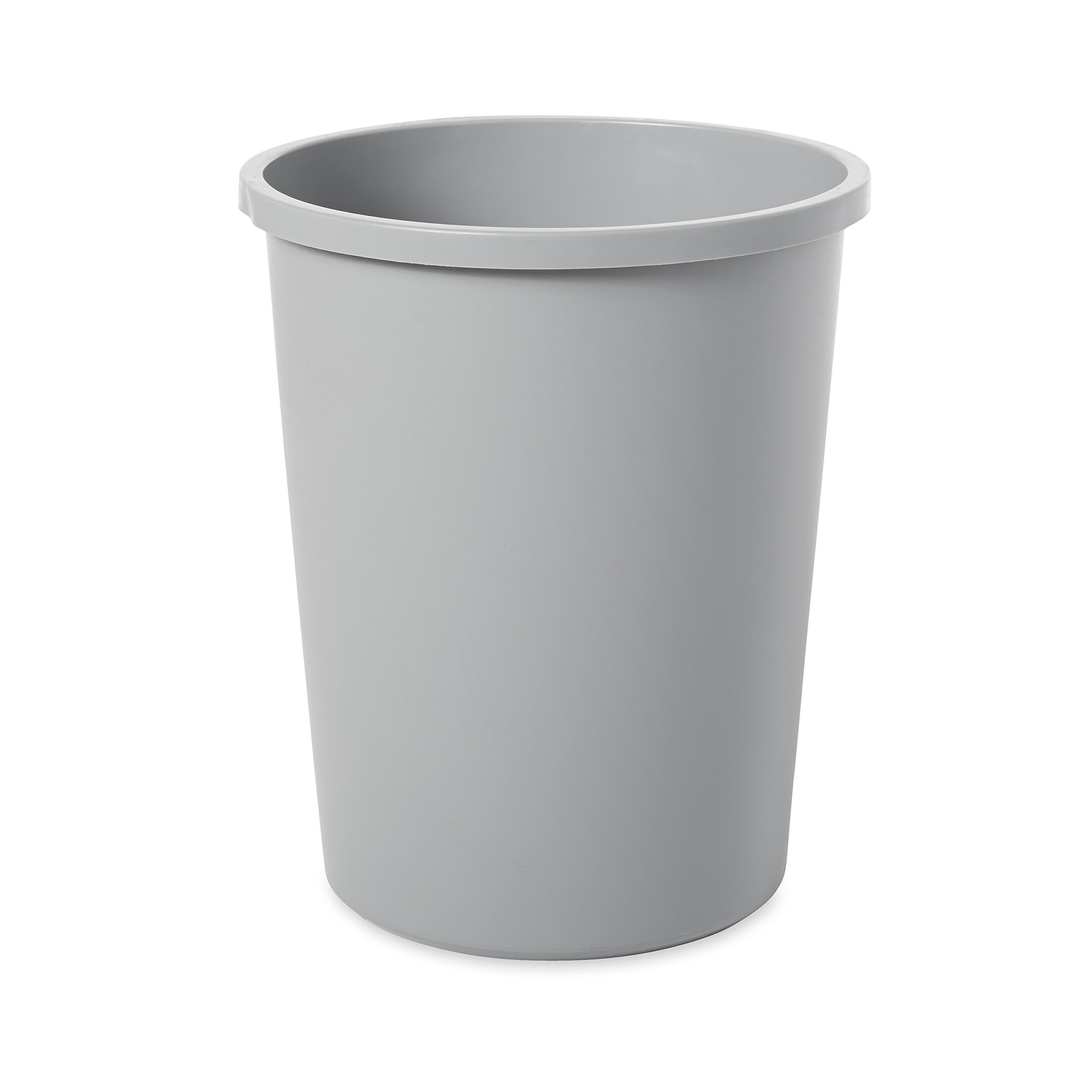 Rubbermaid Commercial Untouchable Trash Can, 11 Gallon, Gray, FG294700GRAY by Rubbermaid Commercial Products