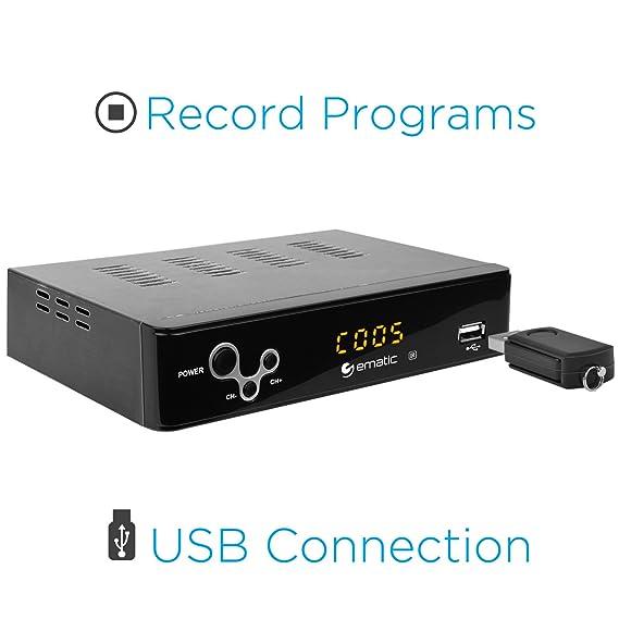 Ematic digital tuner converter box w//remote AT103B