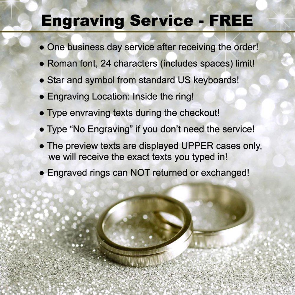 Orien Jewelry 6-8mm Titanium Ring for Couples Brushed Double Milgrain Edge Comfort Fit SZ 6-12 Plus Engraving Service