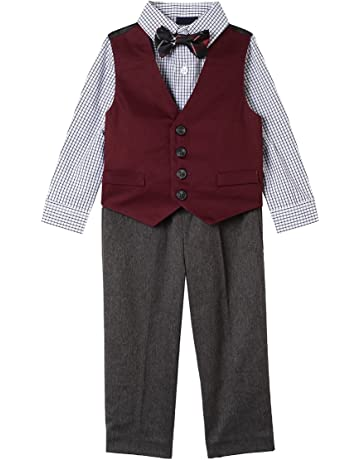 2dfe2709e4f3e Nautica Baby Boys 4-Piece Set with Dress Shirts, Vests, Pants, and