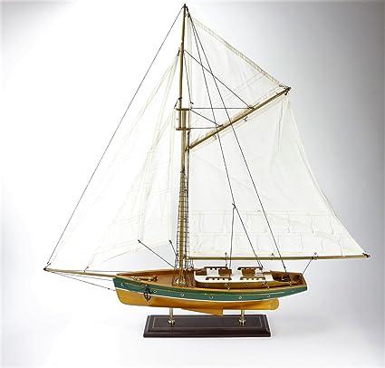 Yate Barco 84x82 cms Maqueta Modelismo Madera Sailing ...