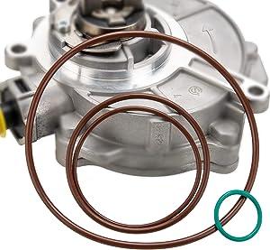 Vacuum Brake Pump Seals & Rebuild Kit For 2005-2008.5 Audi TT A3 A4 Quattro VW Jetta GTI GLI Passat 2.0T FSI MKv, B6, 8P, B7 Gasket O-Ring OE# 06D145100H, 06D145100E 06D145117A