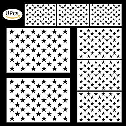 amazon com cocode 8 pieces american flag 50 stars stencil template