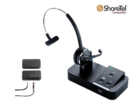 97967aee09d ShoreTel Certified Jabra Pro 9450 Flex Mono Wireless Headset Bundle with  Electronic Hook Switch for IP100