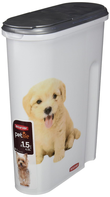 Curver 182004 Contenedor para Pienso de 1.5 Kg, Resina, Blanco, 30x25x10 cm: Amazon.es: Productos para mascotas