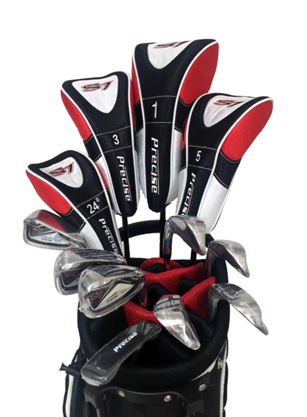 s7メンズLimited Edition Red Completeフルゴルフクラブセット(右手) ;ドライバ、# 3 & 5木製砂、ハイブリッド、# 5PWアイアン、ウェッジ、パター、デラックススタンドバッグ、一致する4ヘッドカバー。 B01I2BRH2C