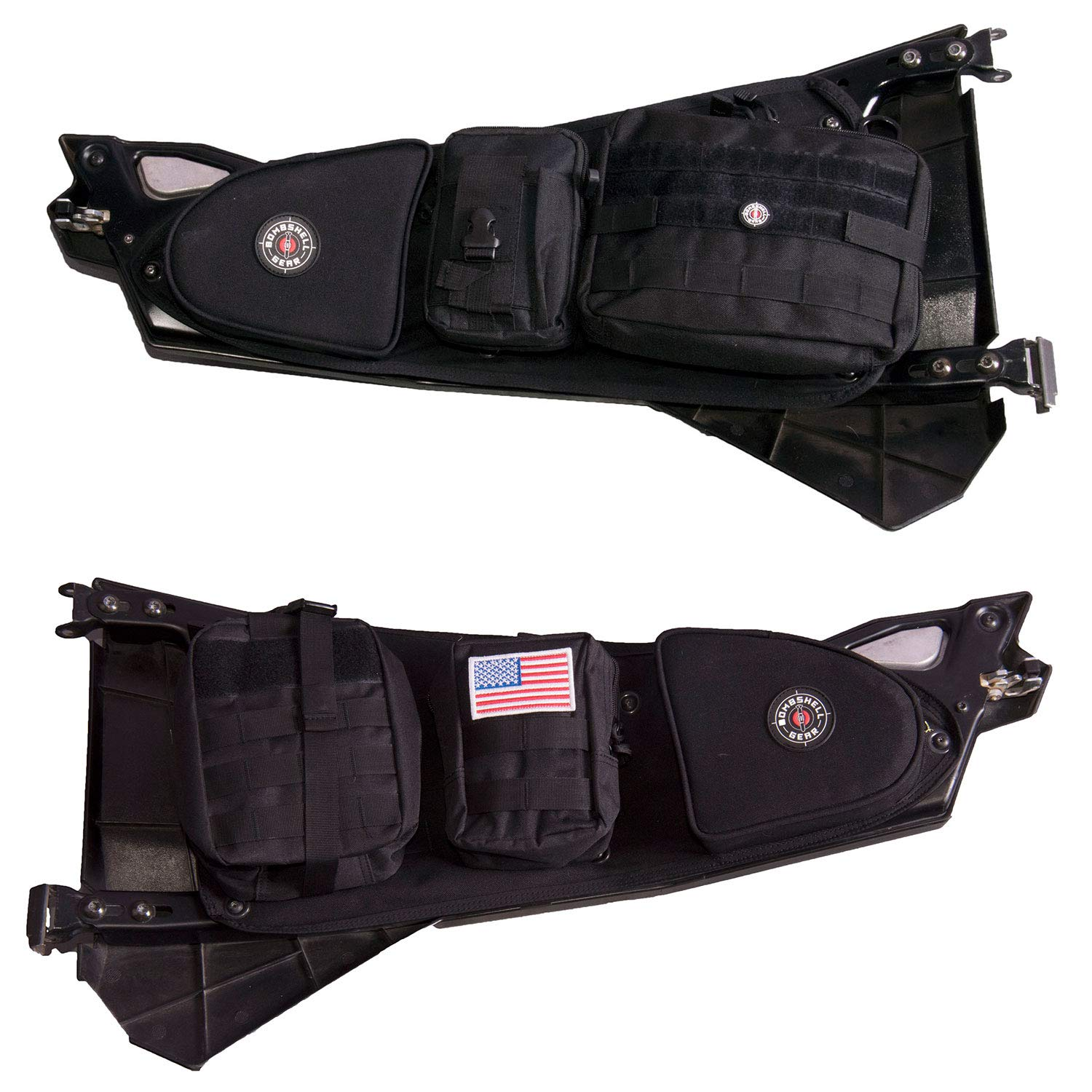 Bombshell Gear Polaris RZR UTV Storage Door Bags w/MOLLE Pouches (Pair)