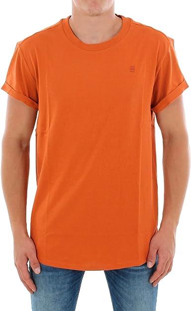 Camiseta G-Star Hombre M Naranja SHELO R T SS: Amazon.es ...