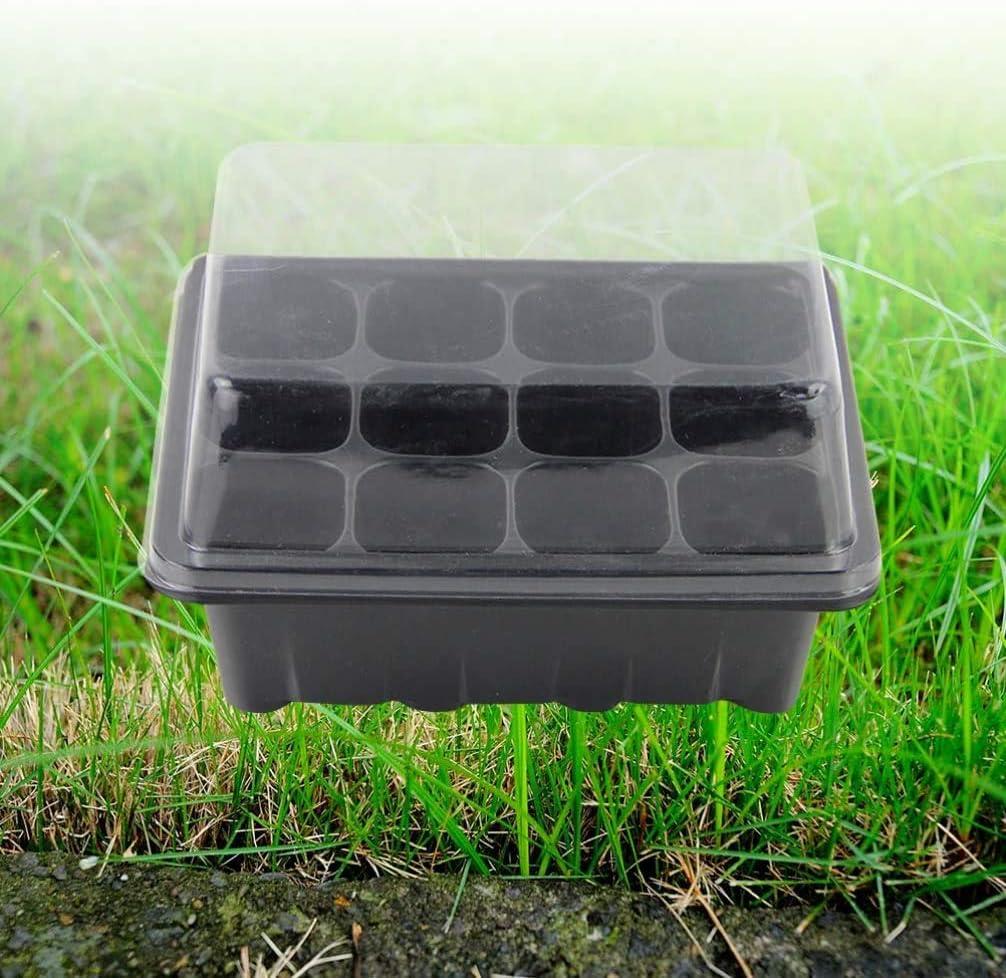 NA 3 Piezas de 12 células Auto-riego hidropónico propagador Cesta sin Suelo Semilla Sprouter La germinación Kit Bandeja con Tapa para el jardín de
