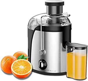 XUALUAN Juicer Machines for Fruits and Vegetables - 3 Speed 400W Energy Saving Juicer Orange Extractor for High Juice Yield - Juicer and Easy to Clean