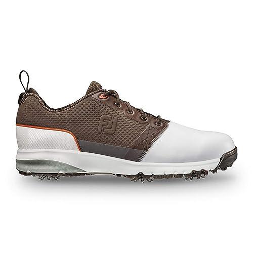 601f87cb3 FootJoy ContourFit - Zapatillas de Golf para Hombre, Blanco/Oscuro Marrón,  9 N