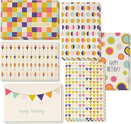 Best Paper Greetings 48/biglietti dauguri di buon compleanno con/6/diverse immagini a tema
