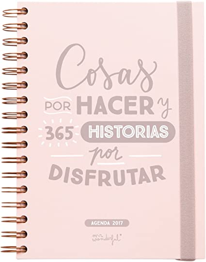 Mr. Wonderful - Agenda 2017 (16 x 22 cm), color rosa: Amazon.es ...
