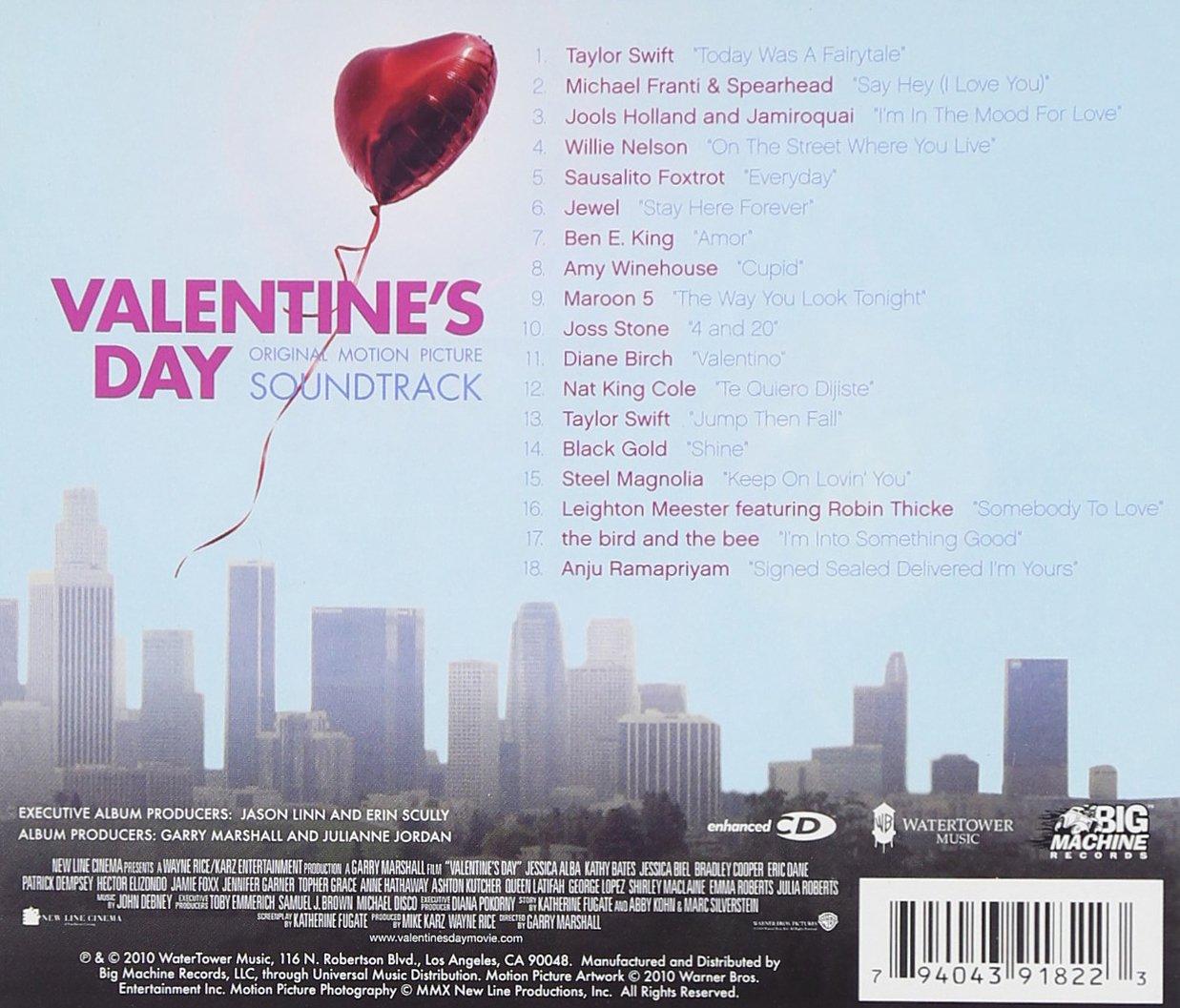 Various Artists   Valentineu0027s Day: Original Motion Picture Soundtrack  [Enhanced CD]   Amazon.com Music