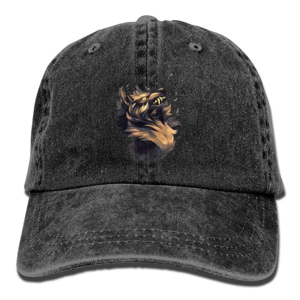 JTRVW Wolf Head of Savage Denim Hat Adjustable Womens Surf Baseball Caps