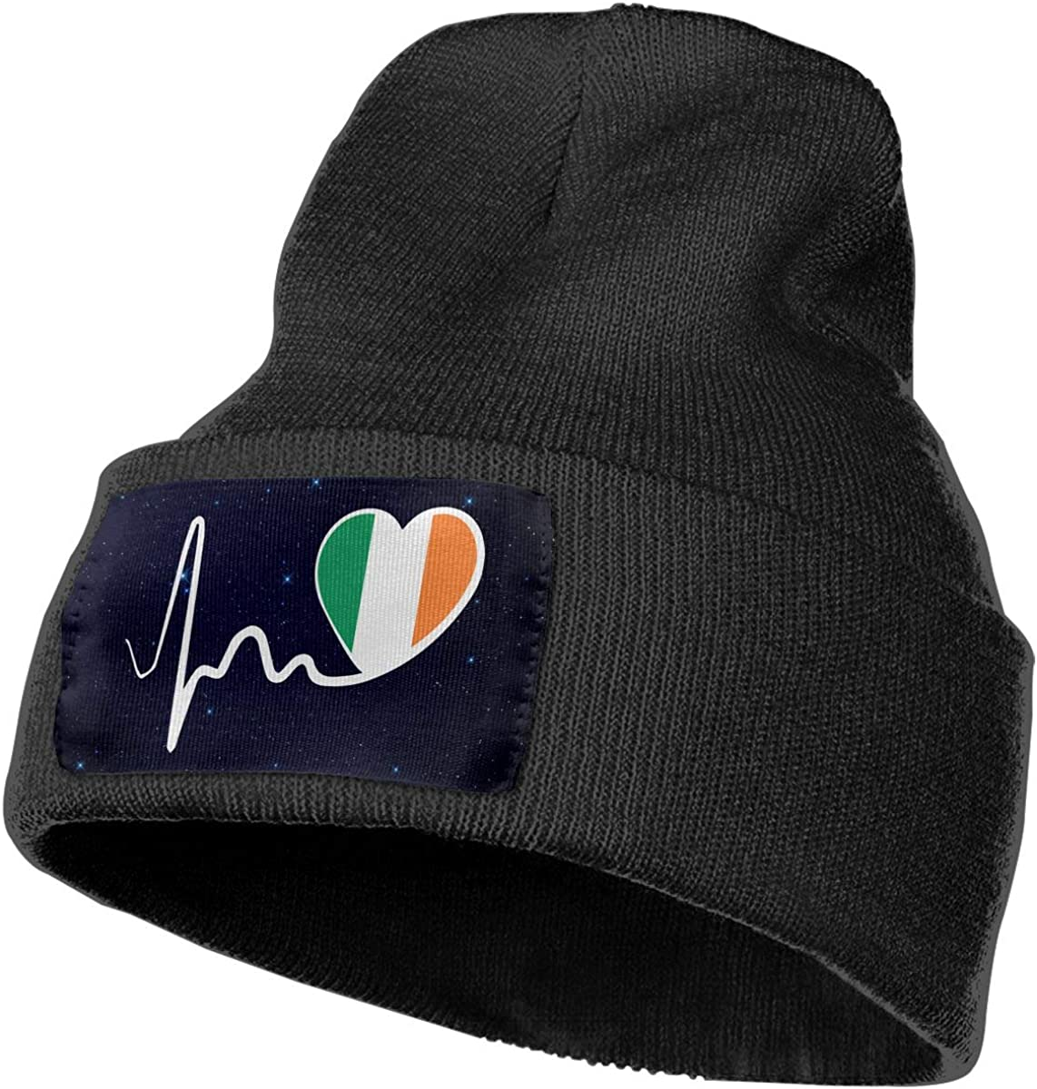 Irish Flag Heartbeat-1 Beanie Cap Hat Men /& Women Knit Hats Stretchy /& Soft Beanie