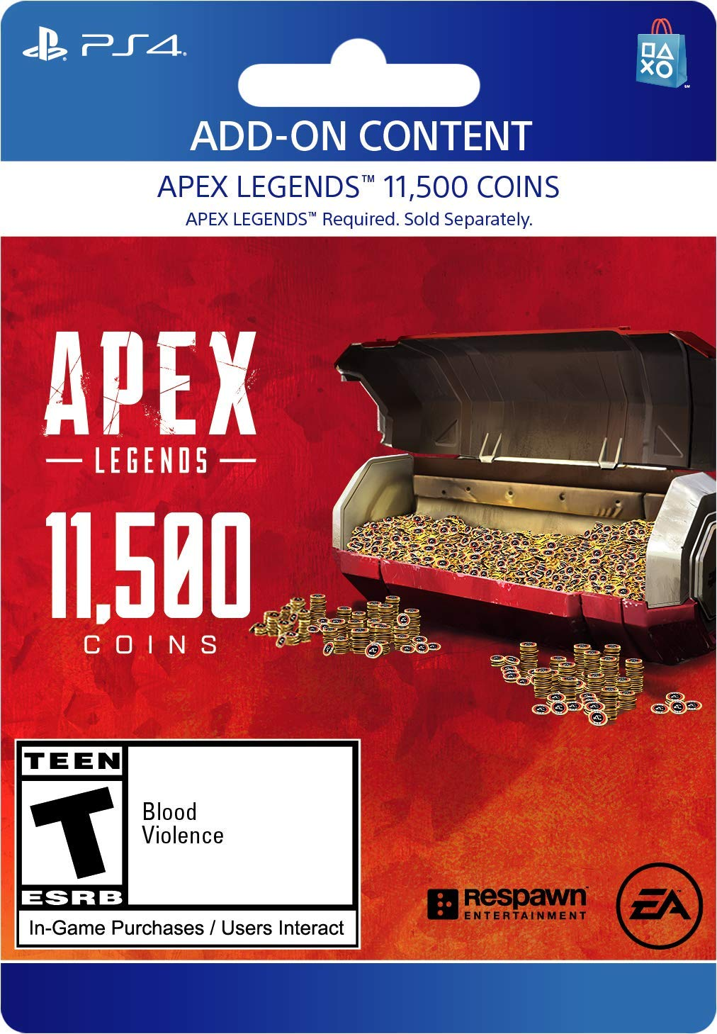Apex Legends - 11,500 Coins Virtual Currency - PS4 [Digital Code] by Electronic Arts