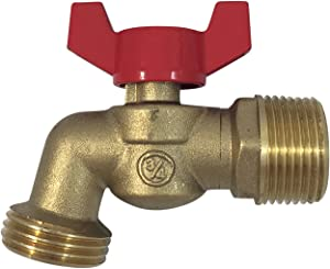 "Brass Ball Similar to Arrowhead Brass 3/4""Male NPT inlet with 3/4 water hose outlet [79-212] ideal for gardens and patios Llave de Manguera o Nariz 3/4""Llave de Manguera Esfera Mariposa"