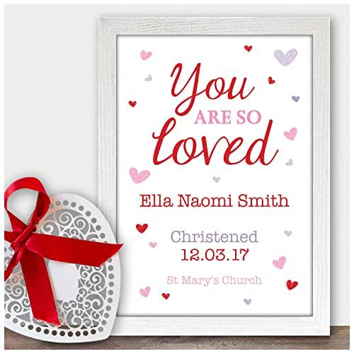 Personalised You Are So Loved Godson Goddaughter Gifts - Christening Baptism Naming Day Gift Present - Handmade Custom ...