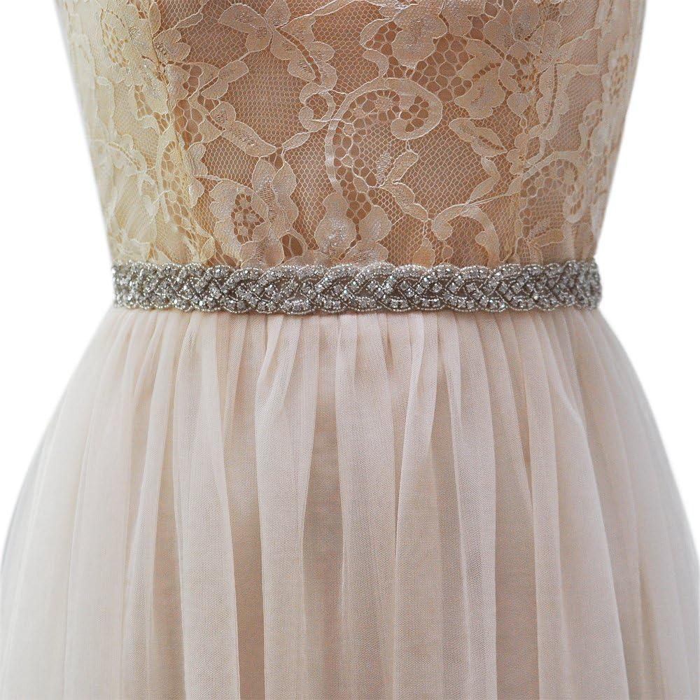THK-Wedding Rhinestone belts for women,Wedding Sash,Bridal Belt Bridal Sash,jeweled belt