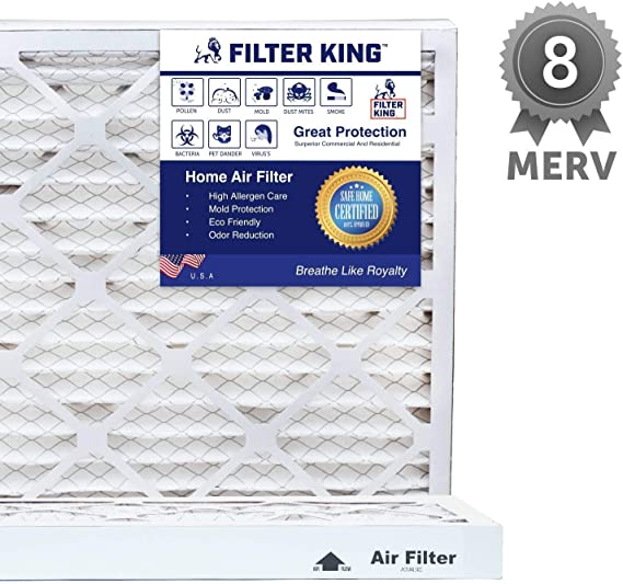 SpiroPure 20x30x2 MERV 8 Odor Reduction Air Filters 6 Pack Made in USA