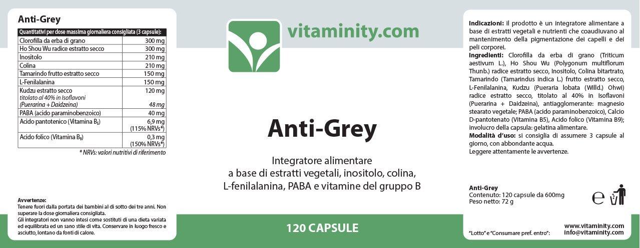 Vitaminity - Anti-Grey - Integratore alimentare per la conservazione del  colore dei capelli  Amazon.it  Salute e cura della persona b792f317717d
