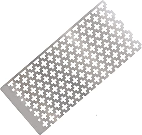 2 Pieces 5D Diamond Painting Ruler Stainless Steel Ruler Diamond Painting Tool Diamond Embroidery Mesh Ruler with 599 Blank Grids and 756 Blank Grids for Full Drill /& Partial Drills