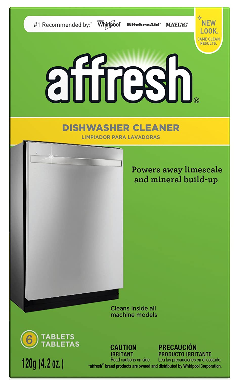 Affresh W10549851 Dishwasher Cleaner 6 Tablets in Carton Original Version, pack of 1