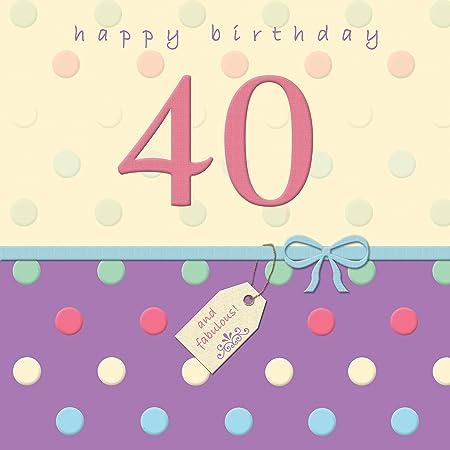 Twizler 40th Tarjeta de cumpleaños con acabado de cristal ...