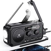 $35 » Emergency Weather Radio, 5000mAh Hand Crank Solar Radio, AM/FM/NOAA Portable Battery…