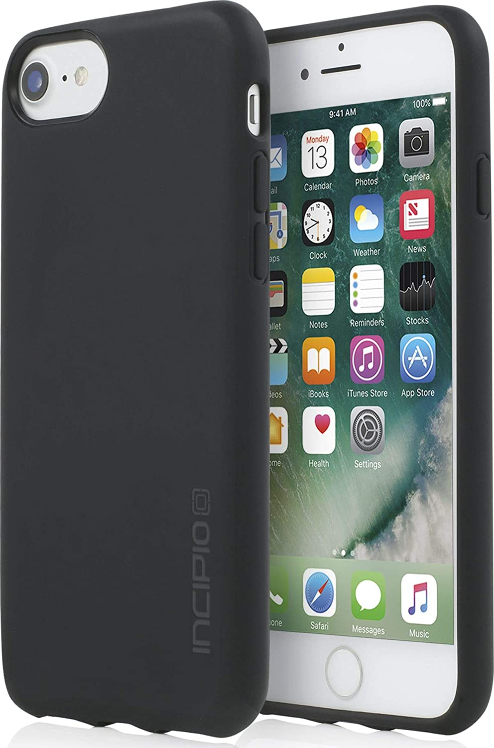 Incipio IPH-1479-BLK NGP iPhone 8 & iPhone 7/6/6s Case with Translucent, Shock-Absorbing Polymer Material for iPhone 8 & iPhone 7/6/6s - Black