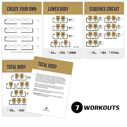 ... WOSS, y ritfit Trainer - Correas construir músculo, tono & Apriete - Gimnasio en casa peso resistencia entrenamiento rutina - Total Body Fitness guía: ...