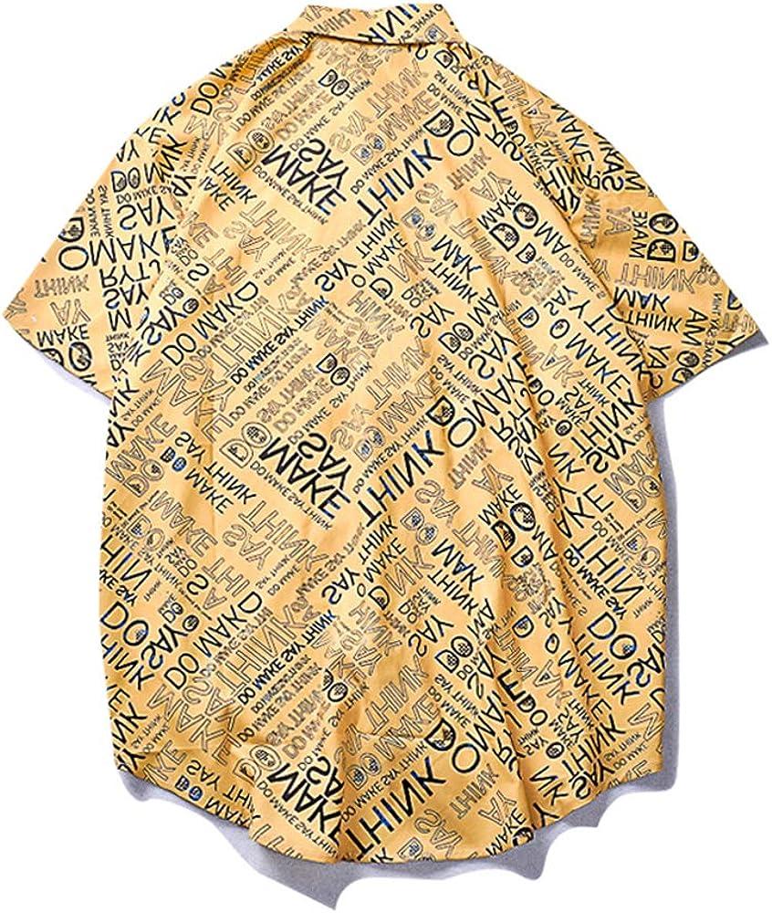 VAGUE STAR Mens Summer Casual Funny Graphic Print Beach Short Sleeve Shirt Unisex 674
