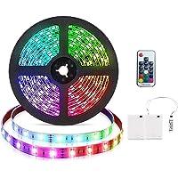 3 m RGB ledstripverlichting, werkt op batterijen, flexibele waterdichte RGB ledstripverlichting, lichtketting voor…