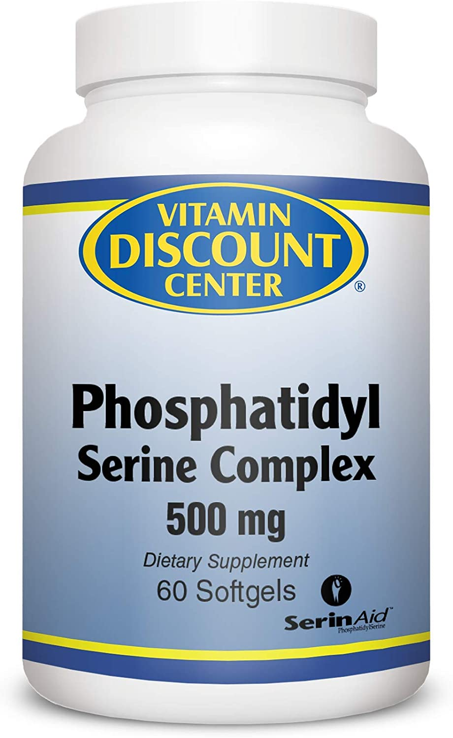 Vitamin Discount Center, Phosphatidyl Serine Complex 500 mg, 60 Softgels 2 Pack