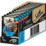 Sheba Craft Collection - Elegante alimento húmedo para Gatos - pequeñas cantidades y Salsa en Bolsa de porción de 85 g, Diferentes variedades
