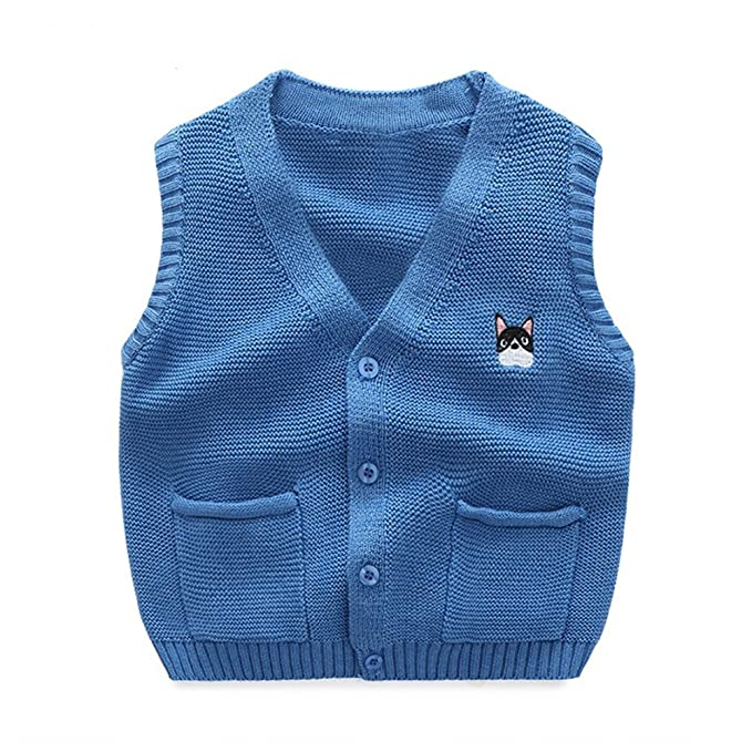 2dead3f0e UWESPRING Baby Boys Sweater Vests Casual V-neck Knitted Cardigan 3T ...
