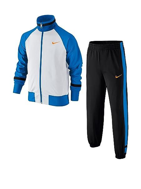 Nike Chándal T45 T Cuff Track Suit YTH Blanco/Negro/Azul 8-10 años ...