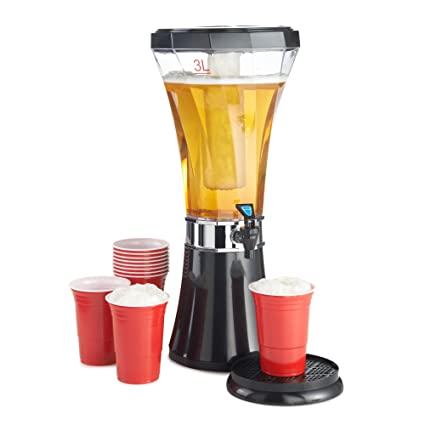 Vonshef - Vonshef dispensador de bebidas de 3l / 5.25 pintas con núcleo de hielo para
