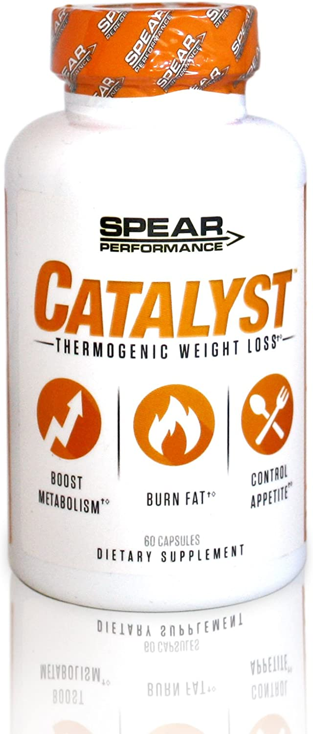 SPEAR Performance Catalyst- Thermogenic Lipolytic Fat Burner Weight Loss Supplement 30 Servings Natural Veggie Capsules Control Appetite and Reduce Cravings. Increased Energy and Fat Burning