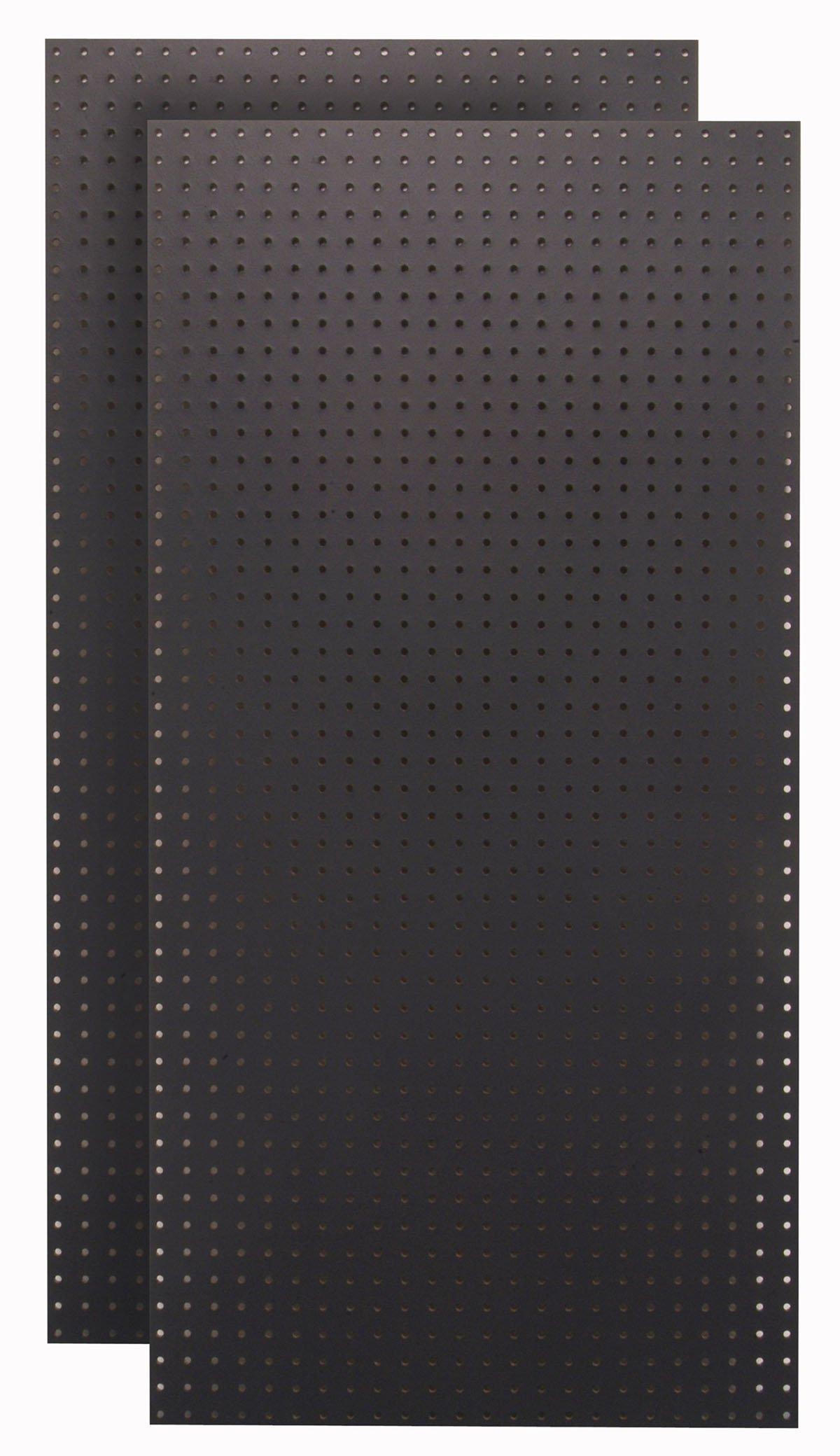 Tempered Wood Pegboard TPB-2BKF 24-Inch W x 48-Inch H x 1/4-Inch D Custom Painted Heavy Duty Round Hole Pegboards, Jet Black